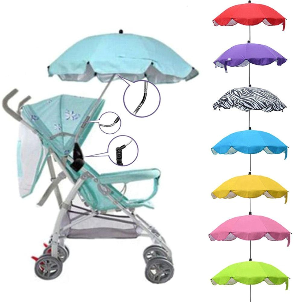 Kids Baby Sun Umbrella Parasol Buggy Pushchair Pram Stroller Accessories