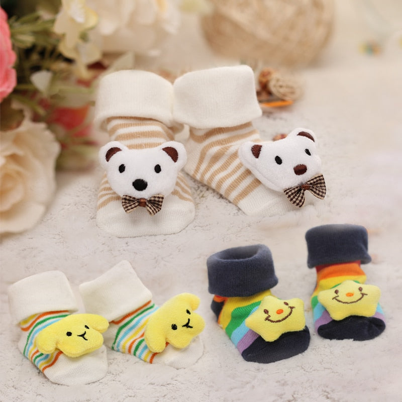 Baby socks rubber anti slip floor cartoon kids Toddlers autumn spring Fashion Animal