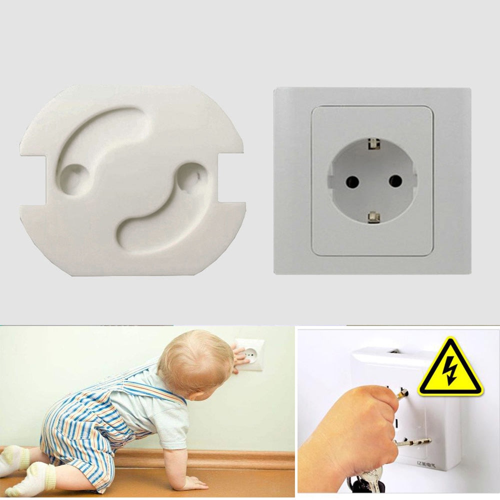 Lot Baby Safety Rotate Cover 2 Holes EU Standard Children Electric Protection