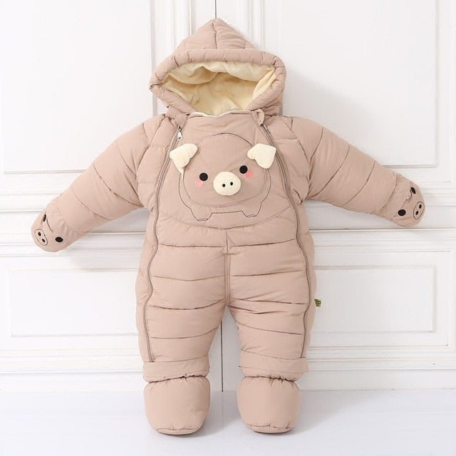 Degrees cold Winter warm Down cotton Clothing New Boy Girl Newborn Coat Parka Romper Baby wear Clothes Snowsuit Costume
