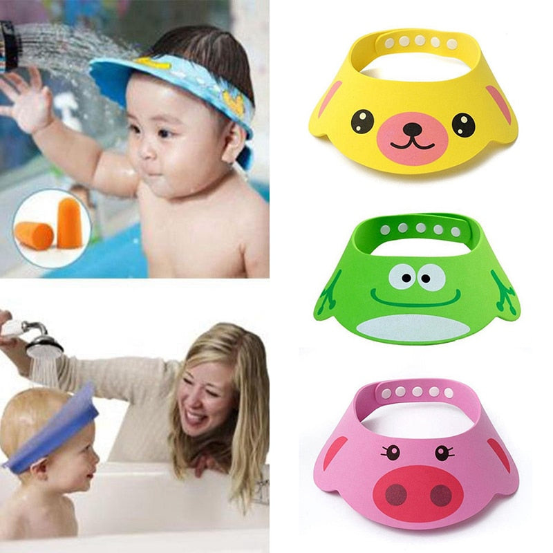 New Kids Bath Visor Hat,Adjustable Baby Shower Cap Protect Shampoo, Hair Wash Shield for Children