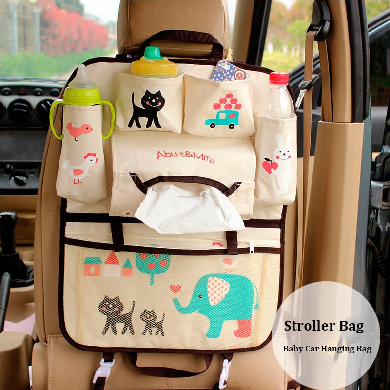 Folding Baby Stroller Bag Organizer Infant Baby Car Hanging Basket Storage Stroller Accessories