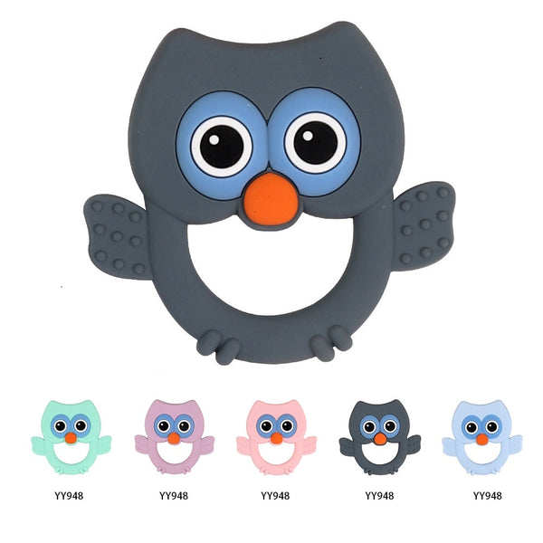 Baby Silicone Teether Carton Bird Baby Chew Toys Teething Perle