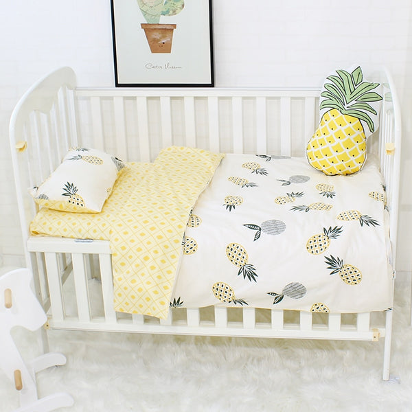 Baby Bedding Set Colorful Triangle Pattern Baby Linen Include Duvet Cover Pillowcase