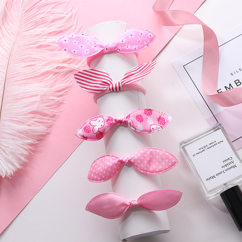 Lot Fashion Rabbit Elastic Hair Bands Hair Accessories For Girls Cute