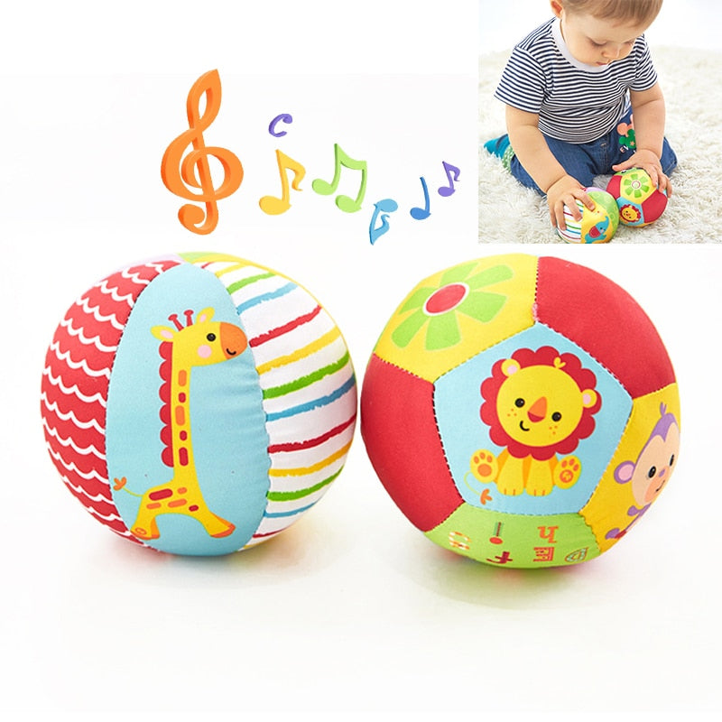 Baby Toys For Children Animal Ball Soft Plush Mobile Toys With Sound Baby