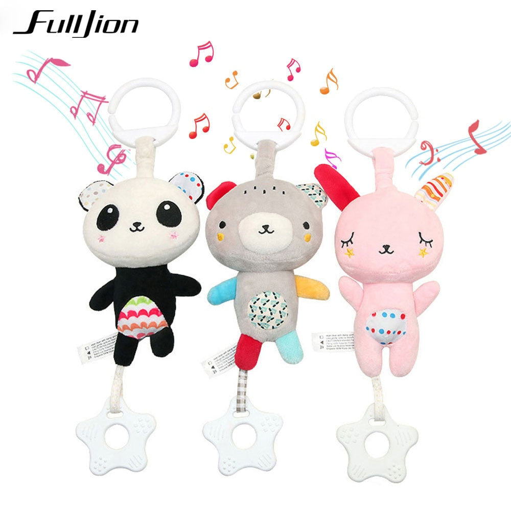 Toddler Toys Christmas Crib Toys For Baby Soft Bed Bell Animal Musical
