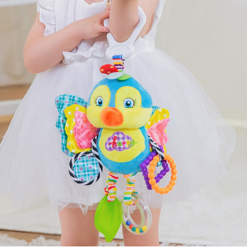 Bed Stroller Hanging Toys Teether Baby Rattle Mobiles Plush Animal