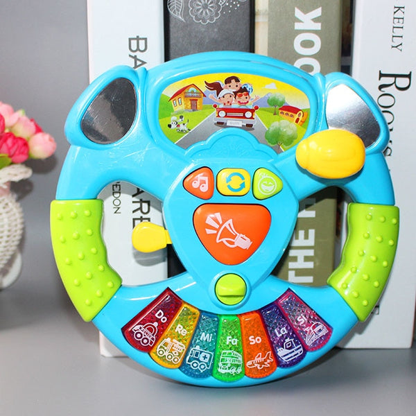 Promotion Toy Musical Instruments For Kids Baby Steering Wheel Musical Handbell