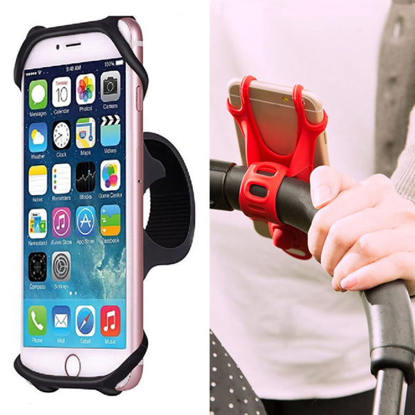 Baby Stroller Accessories Universal stroller Silicone Phone Holder Mobile Phone Holder for pram Moto Bicycle GPS Mount Bracket