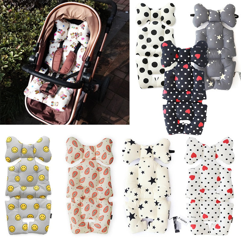 Baby Stroller Seat Pad Four Seasons Soft Seat Cushion Child Cart Mattress Mat Kids Carriage Liner Accessories Coussin Poussette