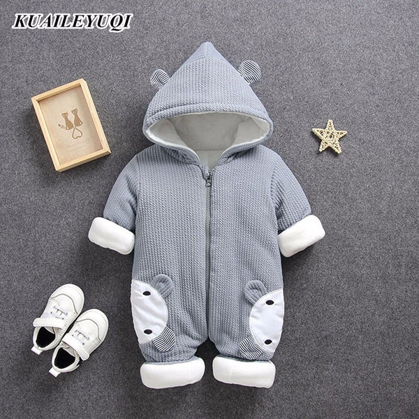 Autumn Winter coat Jumpsuit Baby clothing Newborn Snowsuit Boy Warm Romper Down