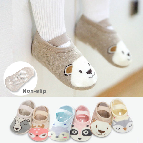Baby Girls Boys Cute Cartoon Non-slip Cotton Toddler Floor Socks Animal
