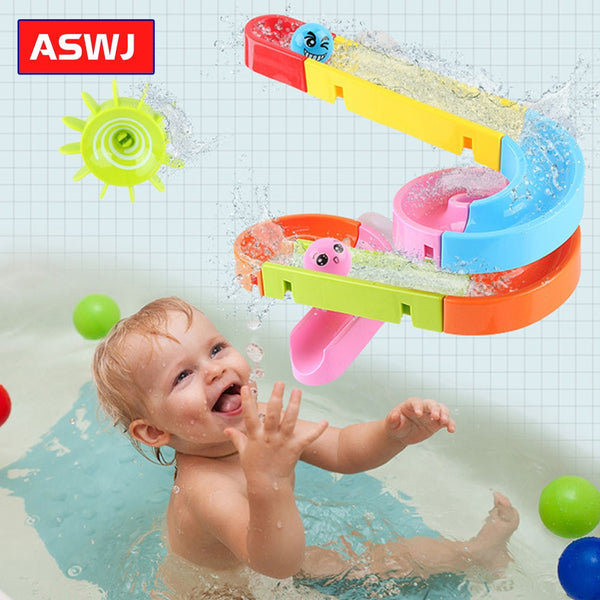 Suction Cup Orbits Track Bath Toys Kids Bathroom Bathtub Water Games Shower Games