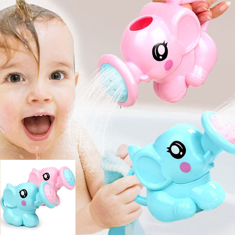 Baby cartoon elephant shower cup newborn child shower shampoo cup baby
