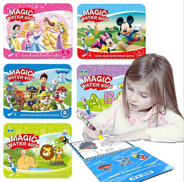 Reusable Magic Water Painting Book Magic Doodle pen Kids Coloring Doodle Drawing