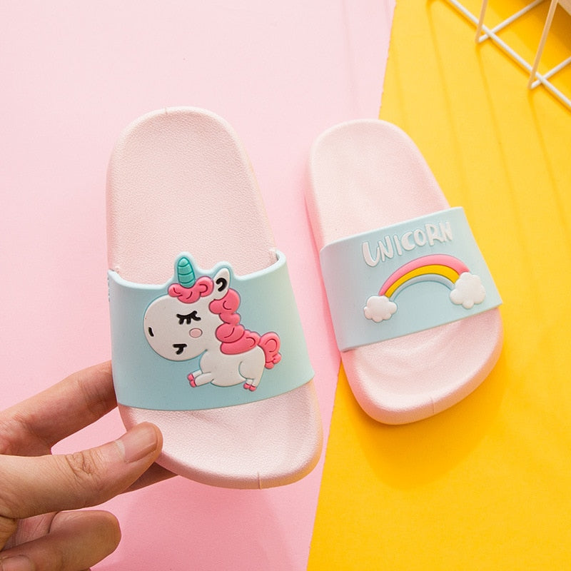 Unicorn Slippers for Boy Girl Rainbow Shoes Summer Toddler