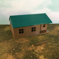 """The Outdoor Series"" - Cabin #6 - Camping - Modeled in Color - Z Scale 1:220"