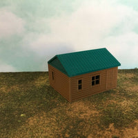 """The Outdoor Series"" - Cabin #7 - Camping - Modeled in Color - N Scale 1:160  3D"