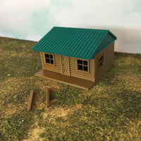 """The Outdoor Series"" - Cabin #5 - Camping - Modeled in Color  HO Scale 1:87  3D"