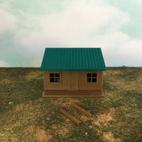 """The Outdoor Series"" - Cabin #5 - Camping - Modeled in Color - Z Scale 1:220  3D"