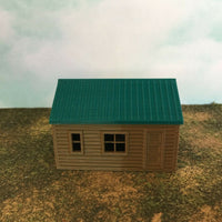 """The Outdoor Series"" - Cabin #7 - Camping - Modeled in Color  HO Scale 1:87  3D"