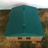 """The Outdoor Series"" - Cabin #2 - Camping - Modeled in Color  HO Scale 1:87"