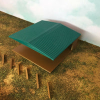 """The Outdoor Series""  Large Shelter - Camping Modeled in Color TT Scale 1:120"