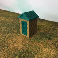 """The Outdoor Series"" OUTHOUSE  Camping  Modeled in Color S Scale 1:64"