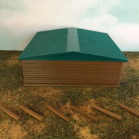 """The Outdoor Series""  Large Shelter - Camping Modeled in Color Z Scale 1:220"