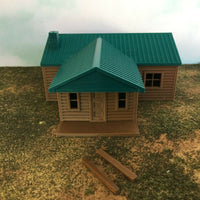"""The Outdoor Series"" - Cabin #4 - Camping - Modeled in Color - N Scale 1:160"