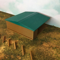 """The Outdoor Series""  Large Shelter - Camping Modeled in Color HO Scale 1:87"