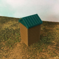 """The Outdoor Series"" OUTHOUSE  Camping  Modeled in Color ZZ Scale 1:300"