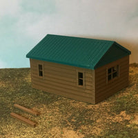 """The Outdoor Series"" - Cabin #1 - Camping - Modeled in Color - Z Scale 1:220"
