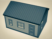 """The Outdoor Series"" - Cabin #7 - Camping - Modeled in Color  O Scale 1:48  3D"