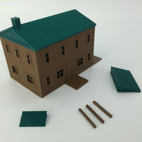 """The Outdoor Series"" - Cabin #3 - Camping - Modeled in Color - Z Scale 1:220"