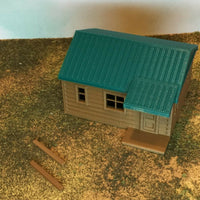"""The Outdoor Series"" - Cabin #1 - Camping - Modeled in Color - S Scale 1:64"