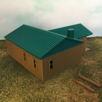 """The Outdoor Series"" - Cabin #4 - Camping - Modeled in Color  HO Scale 1:87"