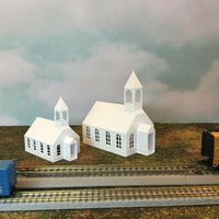 """ Small Town Church "" Urban City Building - N Scale 1:160 - No Assembly! Chapel"