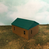 """The Outdoor Series"" - Cabin #7 - Camping - Modeled in Color  S Scale 1:64  3D"