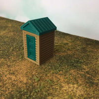 """The Outdoor Series"" OUTHOUSE  Camping  Modeled in Color HO Scale 1:87"