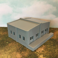 Rail to Road Freight Transfer Station with Dock - Z Scale 1:220