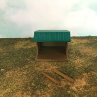 """The Outdoor Series""  Small Shelter - Camping Modeled in Color TT Scale 1:120"