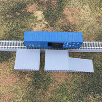 2 PC Loading Platform Dock with Ramp - Z Scale 1:220 - No Assembly Required!