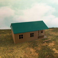 """The Outdoor Series"" - Cabin #6 - Camping - Modeled in Color  OO Scale 1:76  3D"