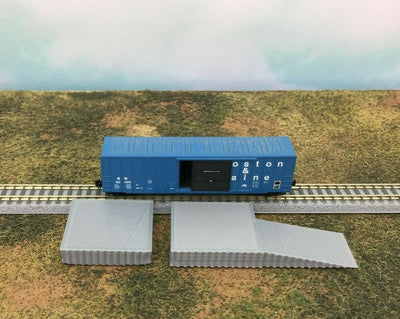 2 piece LOADING PLATFORM DOCK with RAMP - T Gauge or T Scale - 1:450 1:480