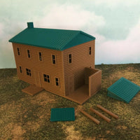 """The Outdoor Series"" - Cabin #3 - Camping - Modeled in Color  HO Scale 1:87"