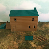 """The Outdoor Series"" - Cabin #3 - Camping - Modeled in Color  S Scale 1:64"