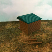 """The Outdoor Series""  Small Shelter - Camping Modeled in Color  Z Scale 1:220"