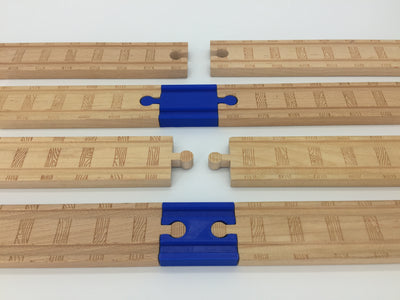 (2) Pack of Wood Track Adapters - Double Male & Double Female